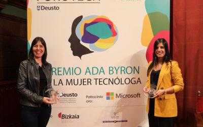 Concha Monje y Ana Freire, ganadoras del premio Ada Byron Mujer Tecnóloga 2019