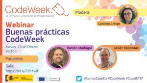 Baner segundo Webinar Buenas prácticas CodeWeek